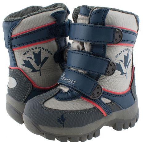 Śniegowce wodoszczelne, buty zimowe, kozaki chłopięce, roz. 22