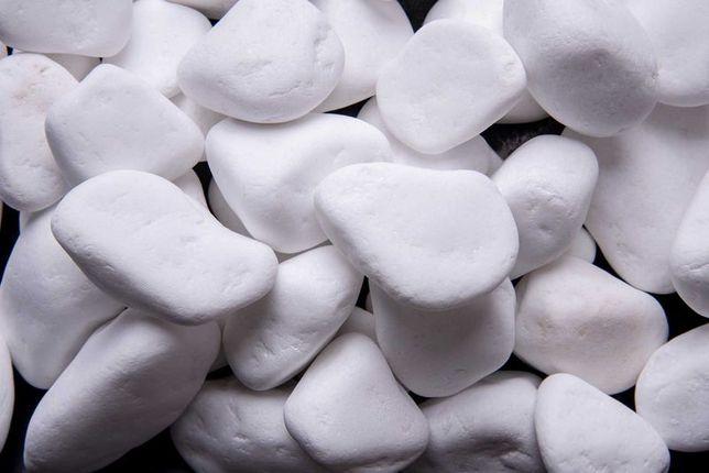 Kamień ogrodowy Thassos otoczak biały 1-2cm 2-4cm 4-8cm 8-13cm, 1 Tona
