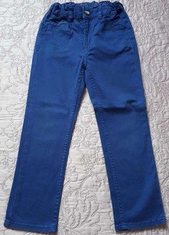 Spodnie dla dziewczynki - kolor niebieski- rozmiar: 110, marka: H&M