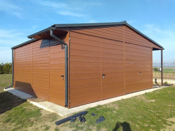 garaż drewnopodobny profil ocynkowany blaszak wiata 7x6 6x7 gstal