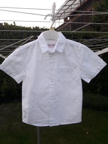 Biała koszula 134 krótki rękaw elegancka 5.10.15 galowa