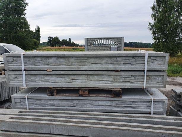 Podmurówka betonowa - wzór piaskowiec ogród i dom ogrodzenie panel 3d