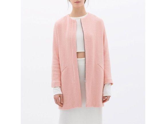 Zara piękny różowy płaszcz