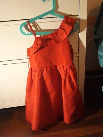 Sukienka czerwona rozm.110-116