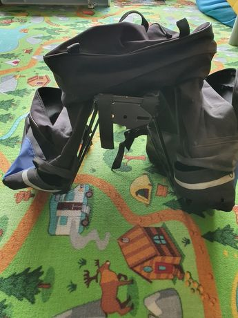 Bagażnik rowerowy sakwa 3 komorowa