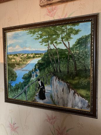 Картина маслом Святогорская лавра