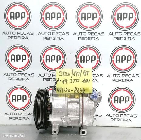 Compressor ar condicionado Fiat Stilo,, Alfa Romeu GT, 147 1.9 MJET referência 447220-8644.