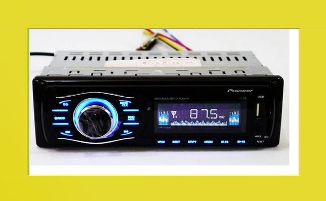Автомагнитола Пионер 1135 на флешках usb 4*50 ват магнітола в авто usb