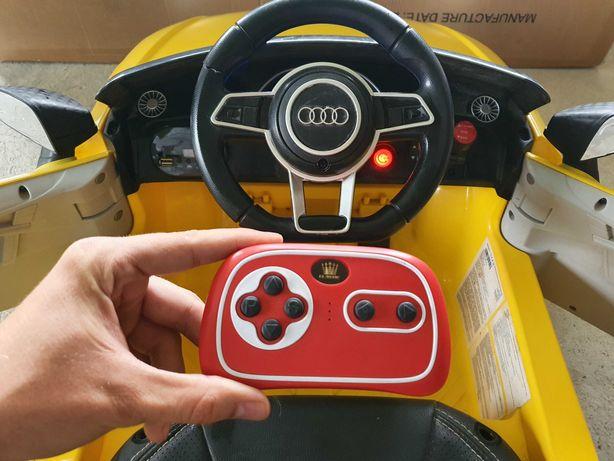 Autko Zabawka, AUDI TT RS, Żółte, Nowe Akumulatory
