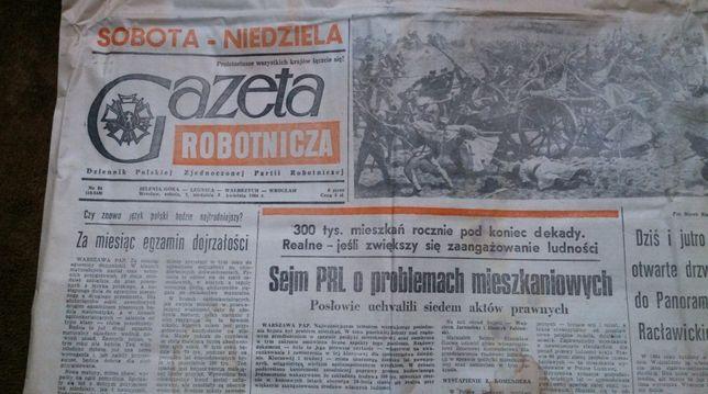 Gazeta Robotnicza PRL z 1984 roku