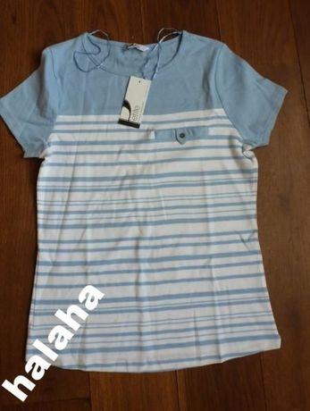 Bluzka w błękitnym kolorze, nowa, kupiona w Anglii, firmowa BHS