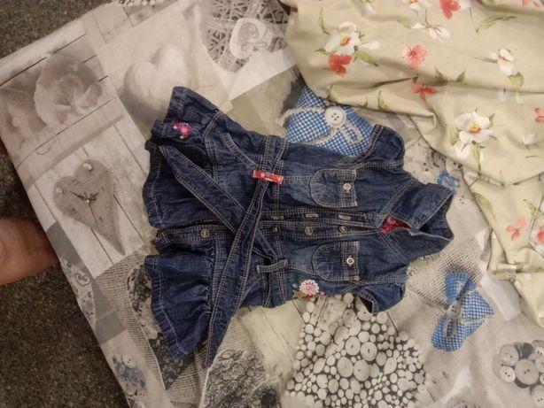 Детский джинсовый сарафаньчик.