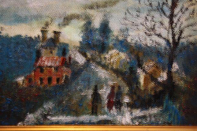 Obraz olejny z rama