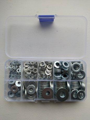 Набор стальных шайб разных размеров (350 шт.)