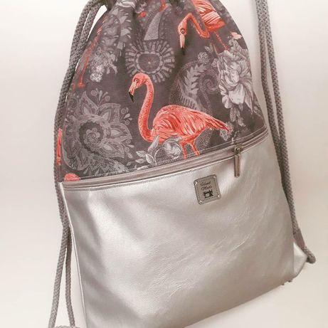 Worko-plecak damski, worek, plecak handmade