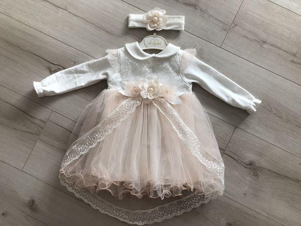 Sukienka chrzest wesele 68 74