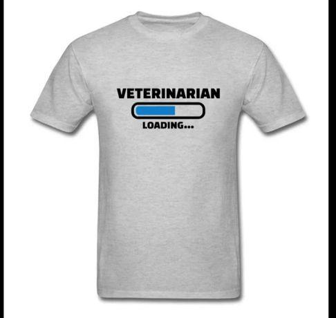 T shirt cinza estudante medicina veterinária
