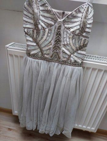 Sukienka tiul cekiny