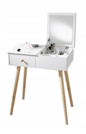 Nowa biała toaletka z lustrem komoda komódka stolik biórko kosmetyczka