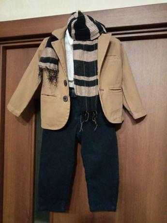 Продам суперовий Костюм на 1 -1.5  Пиджак штани рубашка шарф