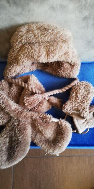 Komplet zimowy Barts czapka szalik rękawiczki
