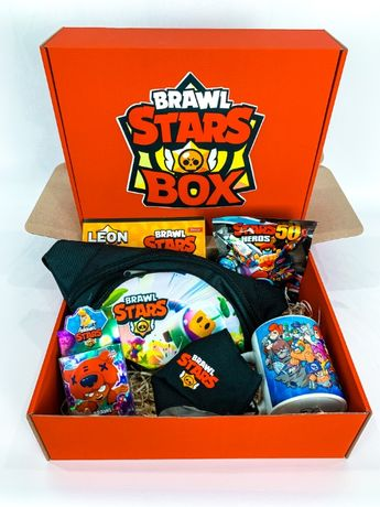 "Набор Brawl Stars Box Бравл Старс Бокс ""Мега Ящик бананка чашка"