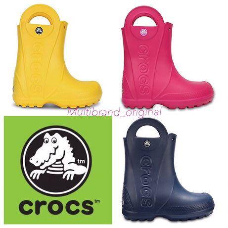Сапоги резиновые детские Кроксы оригинал гумаки Crocs Kids Rain Boot