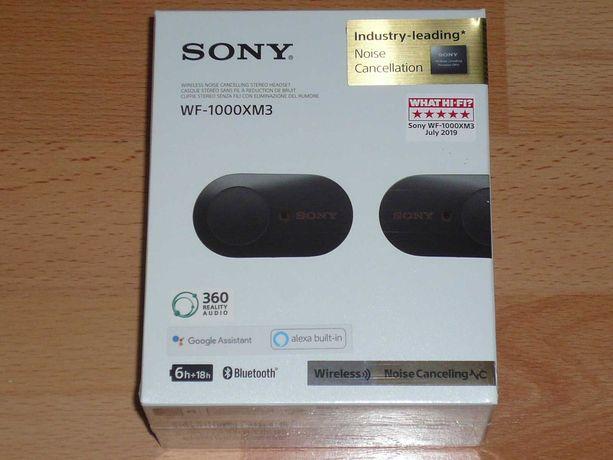 Słuchawki Sony WF-1000XM3 Czarne Nowe Gwarancja