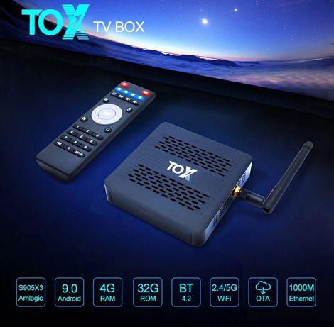 ⫸Smart TV Tox1 4GB/32ГБ Amlogic s905x3 x96 max h96 cube pro am6 x3 x2