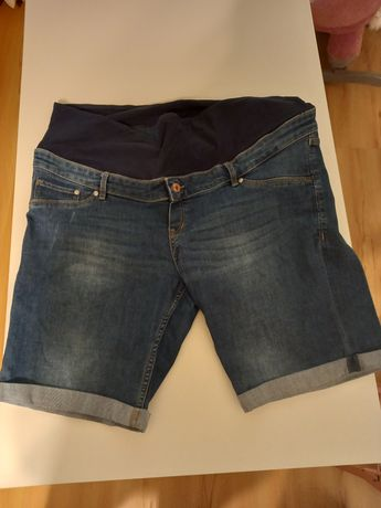 Modne spodenki ciążowe jeans HM r.44/46 Plus size