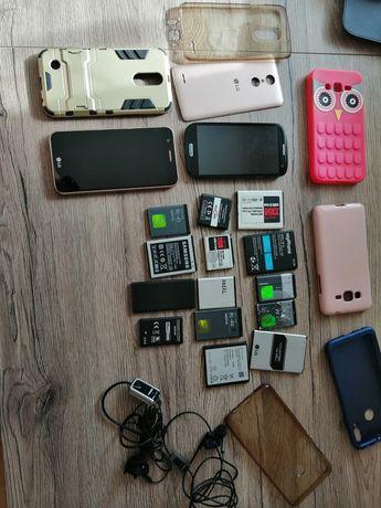 Uszkodzone telefony +akcesoria