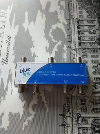Rozgałęźnik do telewizora bluline do 6 odbiorników gratis kabel euro