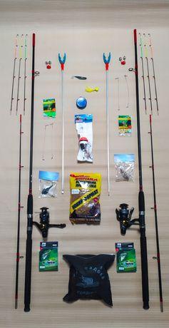 Набір для Рибалки все Включено Спиннинг Вудка Удочка Спининг Спінінг