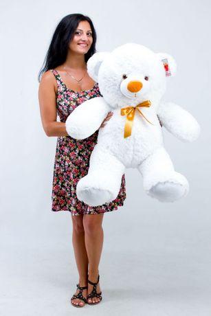 Плюшевый мишка Томми 100 см белый Подарок на 8 Марта мягкая игрушка