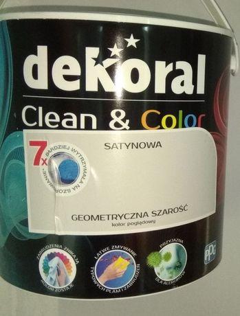Dekoral Clean&Color 3x2,5l  Geometryczna szarość farba lateksowa