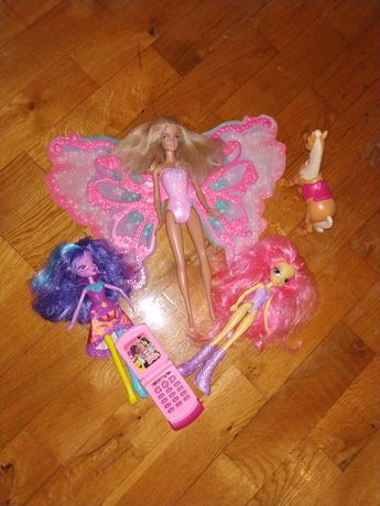 Komplet lalek barbie wróżka Mariposa   my little pony