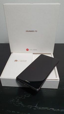 Huawei P9 com caixa e acesso à Play Store