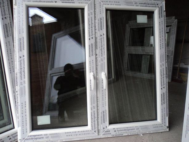 Okna pcv Nowe -sz135x125wys- dwuskrzydłowe