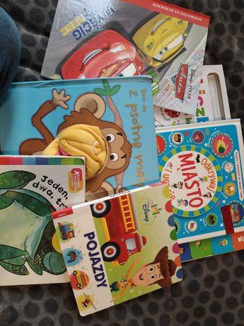 Zestaw książek auta liczymy małpa itd