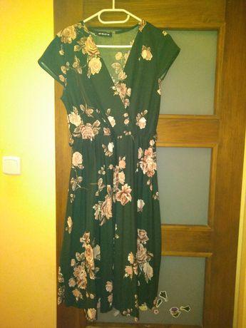 Super sukienka plisowana w kwiaty