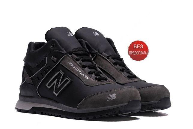 New Balance ВІасk сІаssіс кроссовки Класные Мужские зимние кожаные