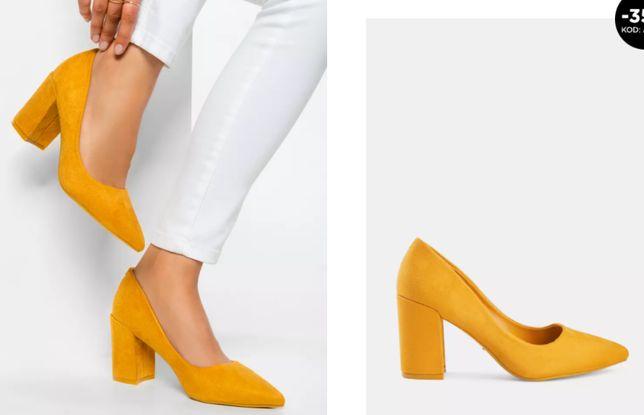 DeeZee Żółte czółenka Galaxy buty 38