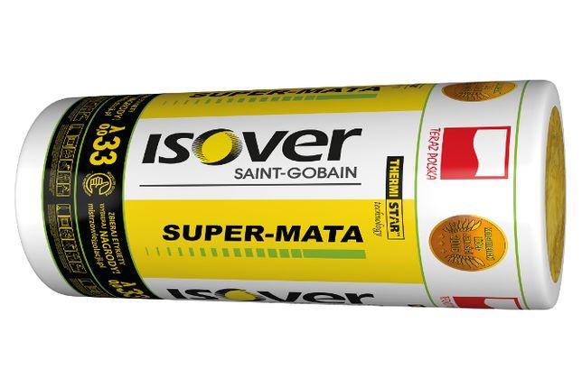WEŁNA mineralna szklana ISOVER Super-Mata 033 lambda 033 18cm, wata