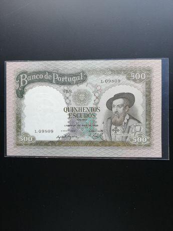 Nota de 500 escudos 1958