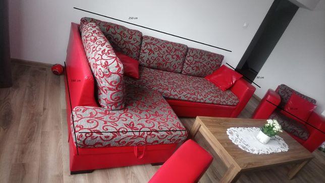 Wypoczynek, narożnik + 2 fotele