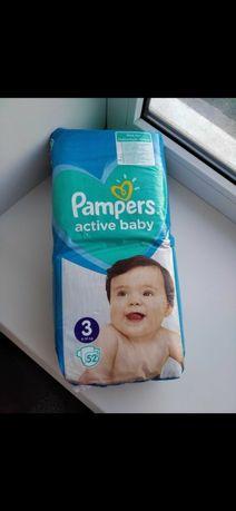 Подгузники Pampers active baby 3 - 52 шт