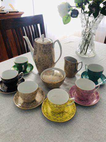 Porcelana Chodzież zestaw kawowo-herbaciany