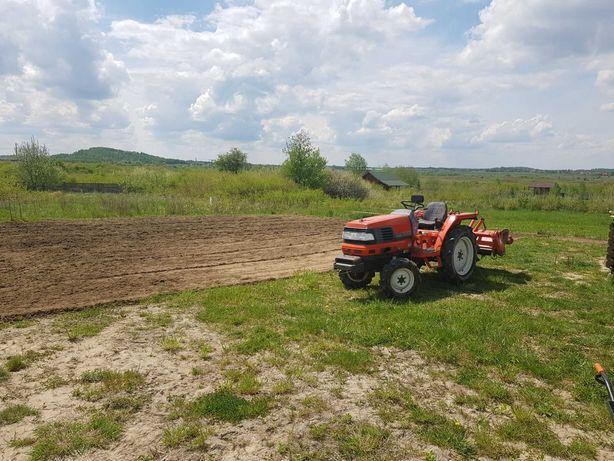 Usługi mini traktorem, koszenie, glebogryzarka, równanie.