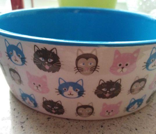 2 miseczki ceramiczne dla zwierząt