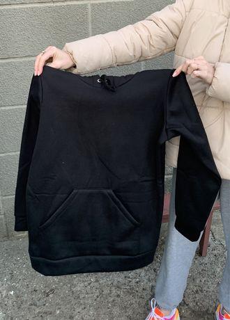 кофта черная с капюшоном